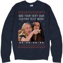 Pixel Woman Yelling Ugly Sweater