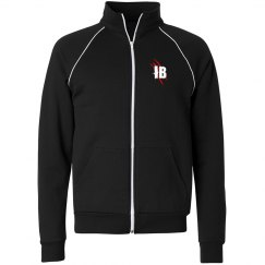 Unisex Full Fleece Zip Track Jacket