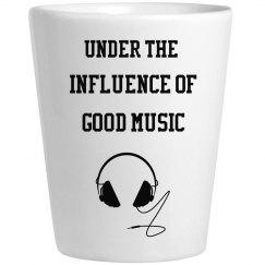 Influence of good music shot gla