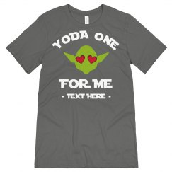 Men's Valentine's Tee One for Me Yoda