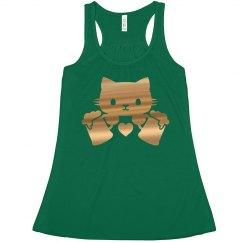 Gold Metallic Kitty & Drinks