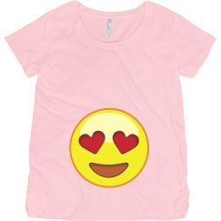 Love Emoji Maternity Tee