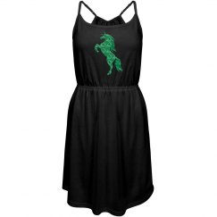 Green Fire Unicorn Dress