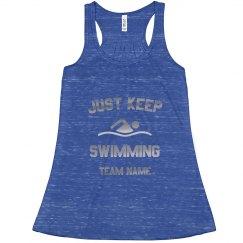 Just Keep Swimming Metallic Design