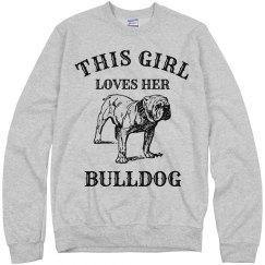 Girl loves her Bulldog