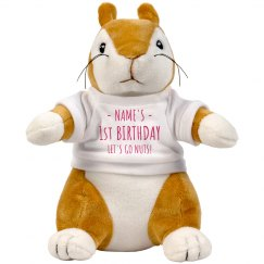 Custom Birthday Squirrel Plush