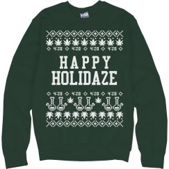 Happy Holidaze Christmas Sweater