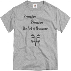 Remember the 6th of November