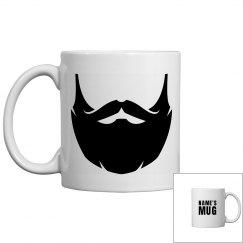 Personalized Name Beard Coffee Mug