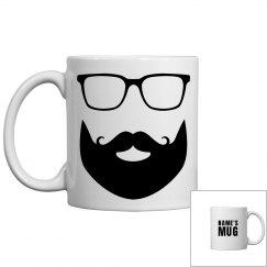 Tailor-Made Name Mug Glasses Mustache Beard Coffee Mug