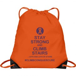 Stay Strong Climb Stairs-drawstring backpack