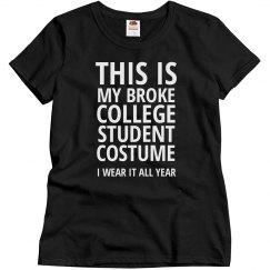 Broke Student Costume