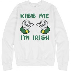 Kiss Me I'm Irish Green