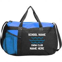 Swim Team Custom Name Bag