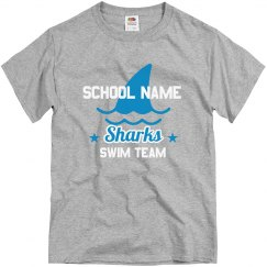 School Name Mascot Swim Tee