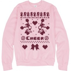 A Cheer Ugly Christmas Sweater for Mom or Daughter