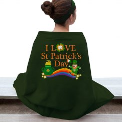 I Love St Patrick's Day, Stadium Blanket