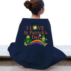 I Love St Patrick's Day, Stadium Blanket
