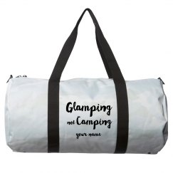 Add Your Name Glamping not Camping Duffel Bag