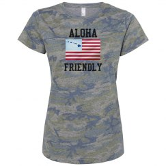 LADIES RELAXED FIT CAMO T-SHIRT