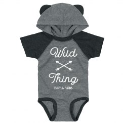 Wild Thing Custom Hooded & Ears Baby Bodysuit