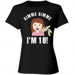 Gimmie 18th Birthday Emoji Girl