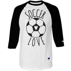 Soccer Love Raglan