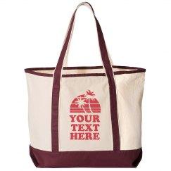 Custom Text Beach Bag