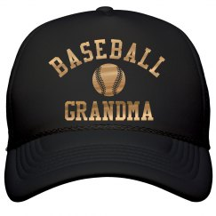 Metallic Baseball Grandma Cap
