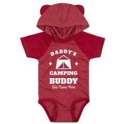 Daddy's Camping Buddy Cutest Custom Baby Bodysuit