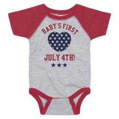 Baby's First July Fourth Onesie!