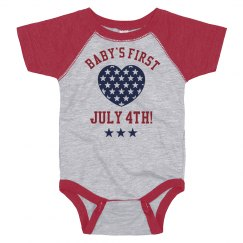 Baby's First July Fourth Bodysuit!