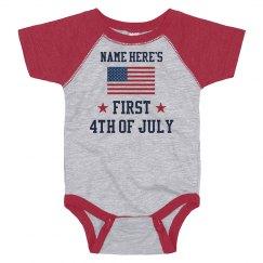 Custom Name July 4th Onesie