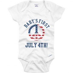 Baby's First July 4th Onesie
