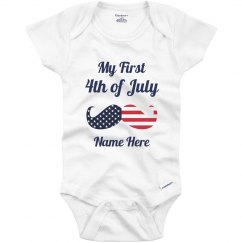 1st 4th Of July For Baby Onesie