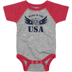 Cute July 4th Bodysuit Made In USA