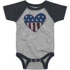 Patriotic American Baby Onesie