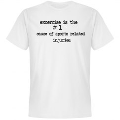 anti-excercise men's tee