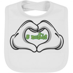 Baby Bib by Month 5 mth