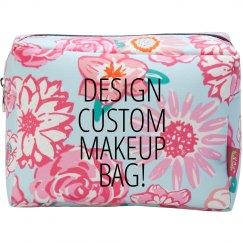 Design A Custom Makeup Floral Bag