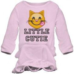Little Cutie Emoji Baby Gown