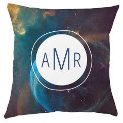 Custom Monogram Galaxy Pillow