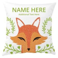 Custom Name Kids Room Fox