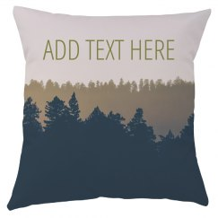 Custom Text Forest Trees in Nature