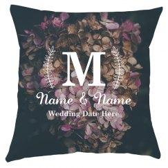 Custom Monogram Floral Wedding Gift