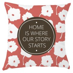 Graphic Floral Home Quote