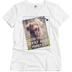 Personalized Tees with Full Color Printing For Women