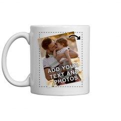 Personalize a Custom Printed Photo or Logo Mug