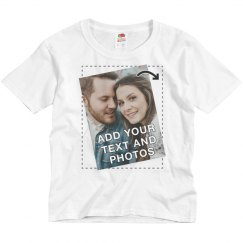 Customize a Youth Tee with Text and Photos for Groups