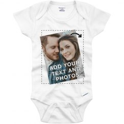 No Minimum Custom Baby Onesie Full Color Printing